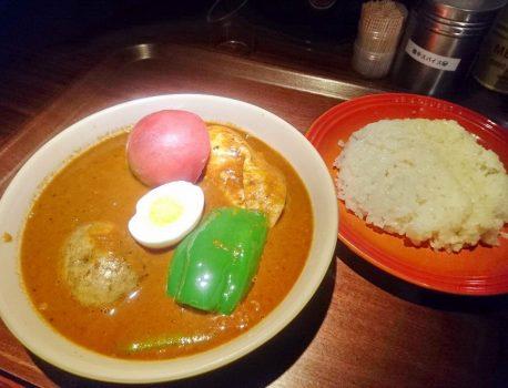 No.048 横浜BAYらっきょの 絶頂辛のスープカレーは美味で辛い!