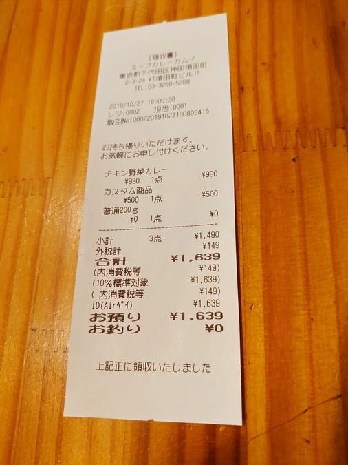 10辛までは辛さ料金無料。それ以上の5辛分は、別料金で500円でした