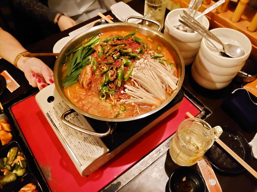 チュクミ(イイダコ)サムギョプサル鍋(5辛)