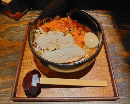 No.176 中野の新ラーメン店「恵比寿らぁ麺屋 つなぎ」で頂く「つなスペ辛味噌ラーメン」