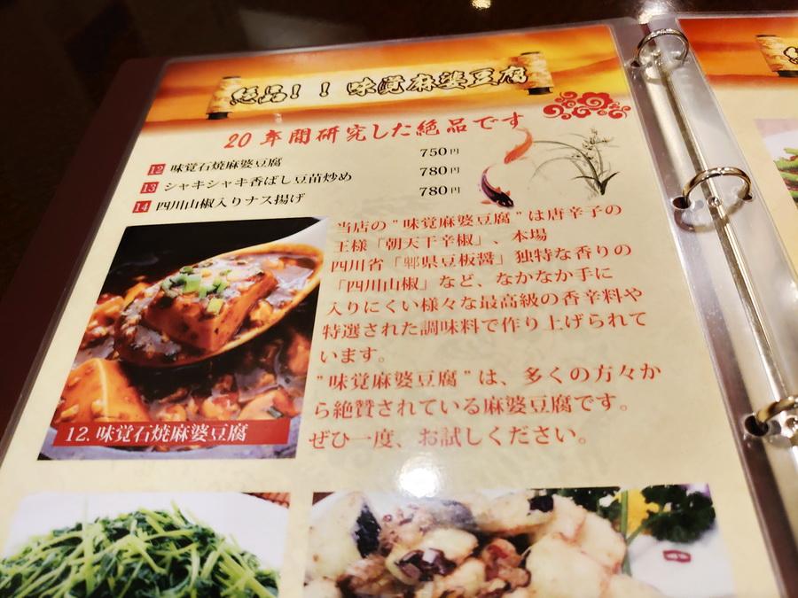 まずはこの麻婆豆腐ですね!