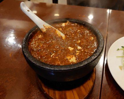 No.184 味覚のハンパない辛さの石焼麻婆豆腐に完敗。。【悶絶死】