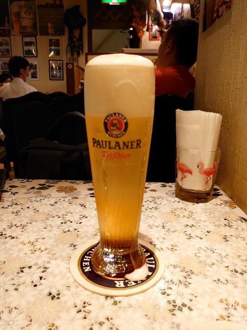 飲みやすい味の生ビールでした