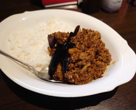 No.215 新橋駅ビルの隠れざる激辛店「正味亭 尾和」で食す「激辛茄子カレー」